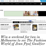 Win a weekend for 2 in Melbourne to see 'The Fashion World of Jean Paul Gaultier' at the National Gallery of Victoria!