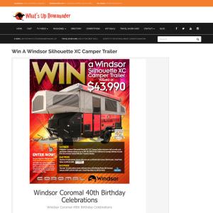 Win a Windsor Silhouette XC Camper Trailer!