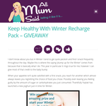 Win a Winter Recharge Snack Pack