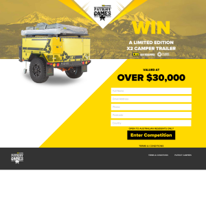 Win a X2 Camper Trailer