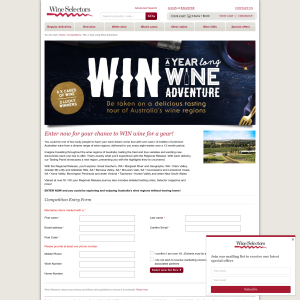 Win a year long wine adventure!
