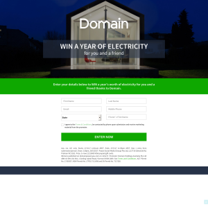 Win a year of electricity for you & a friend!