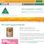 Win a year's supply of Akta-Vite