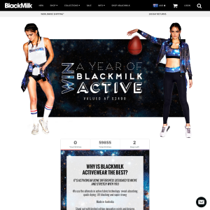 Win a year's supply of 'BlackMilk Active' clothing!