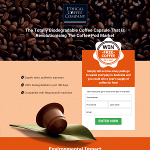 Win a year's supply of coffee for free!