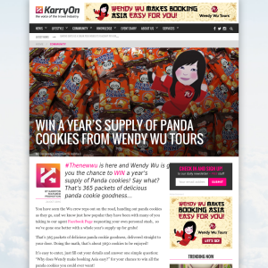 Win a year's supply of Panda cookies!
