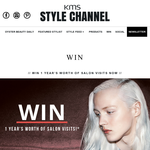 Win a year's worth of salon visits!