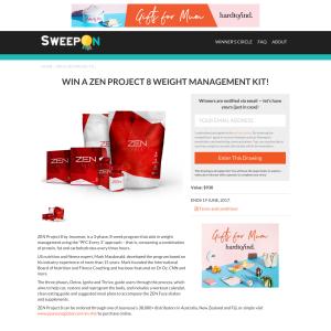 Win a 'ZEN Project 8' weight management kit!