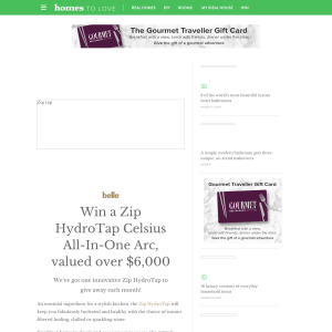 Win a Zip HydroTap Celsius All-In-One Arc