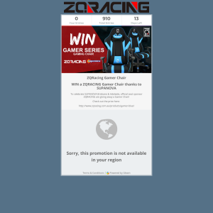 Win a ZQRacing Gamer Series Gaming Chair