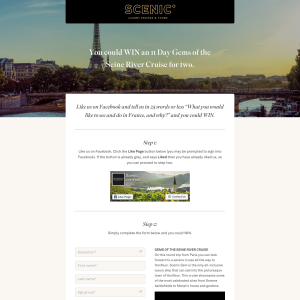Win an 11-day 'Gems of the Seine' River Cruise for 2!