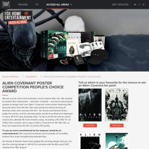 Win an Alien Prize Pack