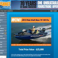 Win an all new Polar Kraft Bass TX 165 Pro boat!