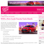 Win an all-new Toyota Yaris Hatch!