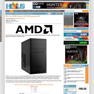 Win an AMD Radeon RX 460 gaming PC!
