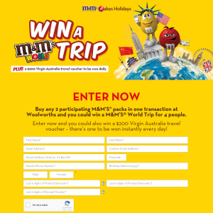 Win an Around-The-World Holiday Worth $31,000 or 1 of 35 $200 Virgin Travel Vouchers