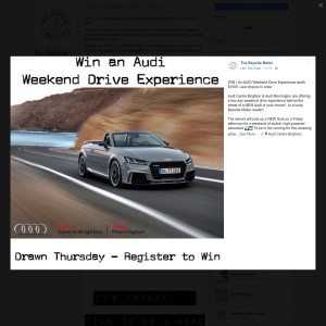 Win an Audi weekend drive experience worth $1,500!