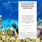 Win an eco-friendly Great Barrier Reef trip for 2!
