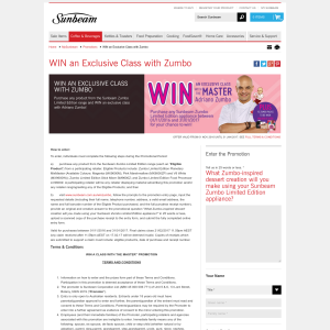 Win an exclusive class with Zumbo!