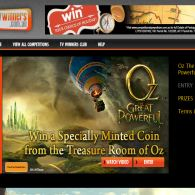 Win an exclusive minted coin from the movie set of Oz
