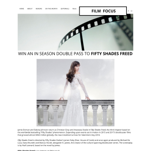 Win an in season double pass to Fifty Shades Freed