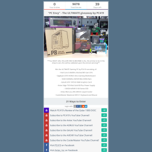 Win an Intel Core i5-8600K Gaming PC