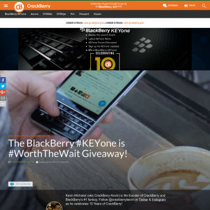 Win an IOU for a BlackBerry KEYone from CBK!