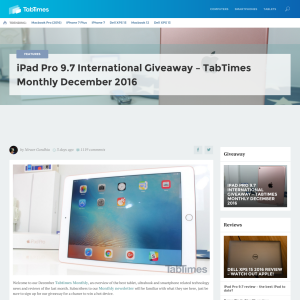 Win an iPad Pro 9.7 from TabTimes