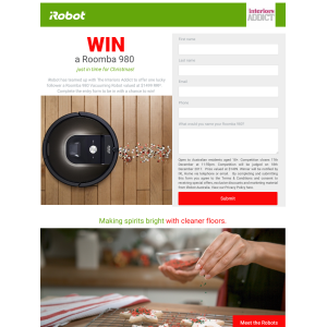 Win an iRobot Roomba 980 Vacuum