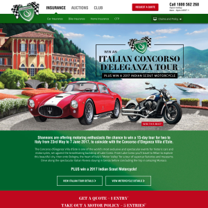 Win an Italian Concorso D'Eleganza tour + a 2017 Indian Scout motorcycle!
