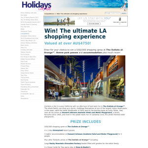 Win an LA Accommodation & Shopping Package for 4