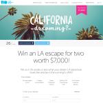 Win an LA escape for 2 worth $7,000!