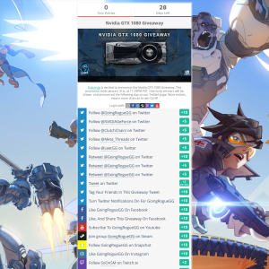 Win an Nvidia GTX 1080!