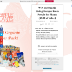 Win an organic living hamper from 'People For Plants'!