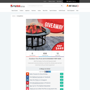 Win an Outdoor Fire Pit & Grill!