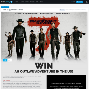 Win an 'Outlaw Adventure' in the US!