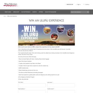 Win an Uluru Experience