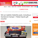 Win an Up&Go Oats2Go pack, including a Sanitarium hamper + Rebel Sports gift voucher!