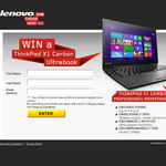 Win an X1 Carbon Ultrabook for you & a friend!