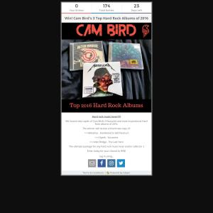 Win Cam Bird's Top 3 Hard Rock Albums of 2016