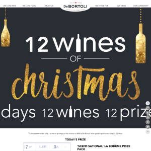 Win Daily Prize Packs from De Bortoli Wines' 12 Days of Christmas Giveaway