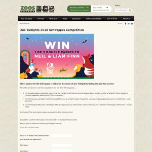 Zoos Victoria - Win double pass to Neil Finn Zoo Twilight ...