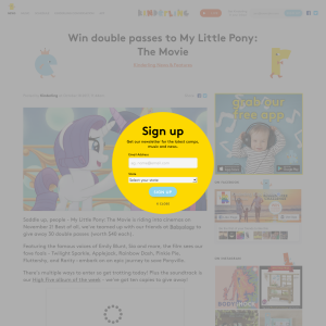 Win double passes to My Little Pony: The Movie