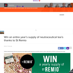 Win entire year's supply of neutraceutical tea's thanks to St.Remio