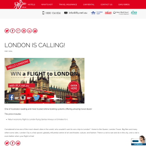 Win Flight to London for 1