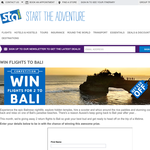Win flights for 2 to Bali!