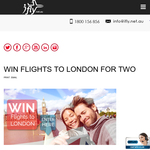 Win flights to London for 2!