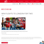 Win Flights to London for Two