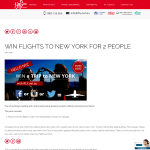 Win flights to New York for 2!
