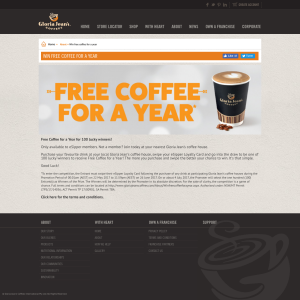 Win FREE coffee for a year! (Registration & Purchase Required)